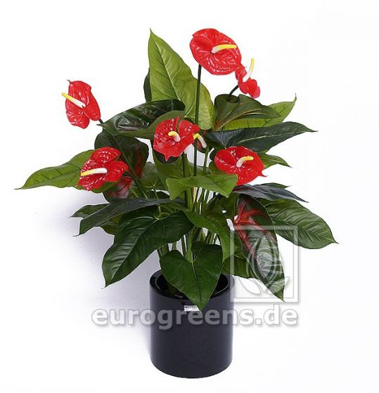 Kunstblume große künstliche Anthurien Pflanze ca. 90cm