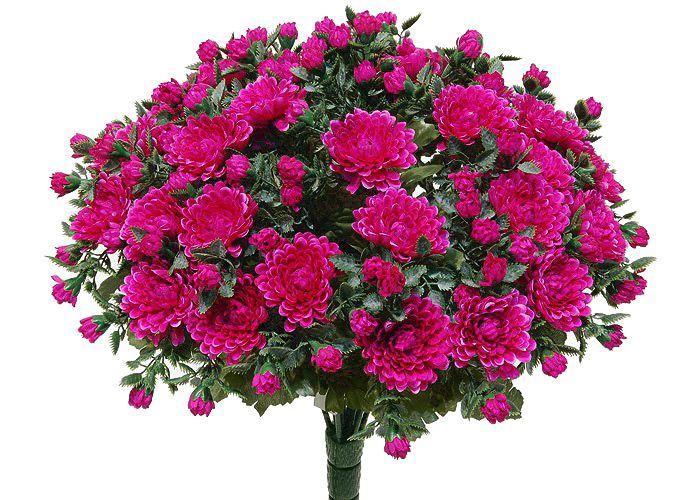 Kunstblume Chrysanthemen-busch lila (mit Einsteckstab/ ungetopft)