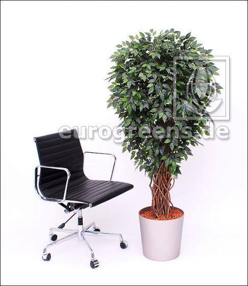 Kunstpflanze Ficus Liane Miniblatt de Luxe grün ca. 150-160cm