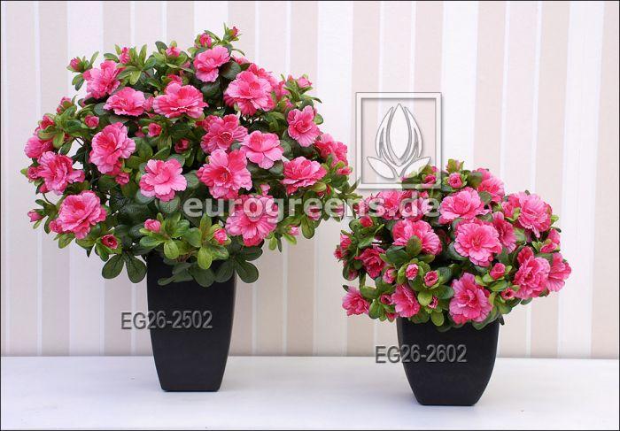 künstliche Belgium Azalee pink ca. 40cm hoch (mit Einsteckstab/ ungetopft)
