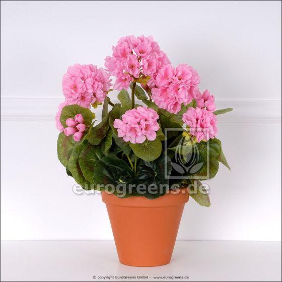 künstliche Geranie rosa ca. 35-40cm hoch (mit Einsteckstab/ ungetopft)
