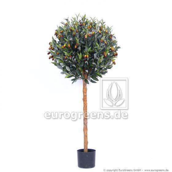 Kunstpflanze Olivenkugelbaum ca. 120cm