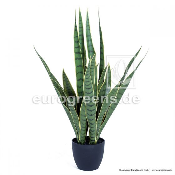 Kunstpflanze Sansevieria grün/gelb getopft ca. 70cm hoch