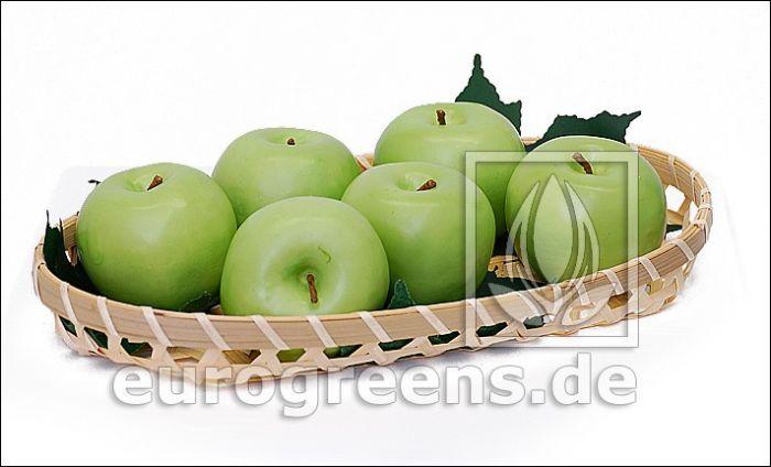 künstlicher Apfel  Granny Smith grün
