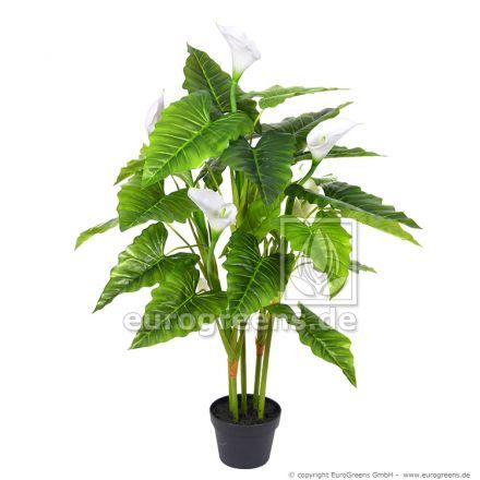 Kunstpflanze Calla ca. 100cm hoch mit weißen Blüten