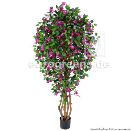 künstliche Bougainvillea lila/violett blühend ca. 170cm