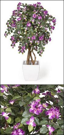 künstliche Bougainvillea violett blühend ca. 170cm