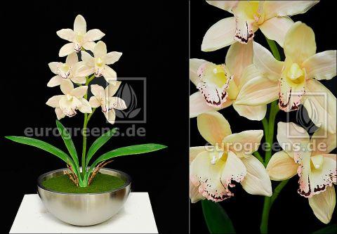 künstliche Cymbidium Orchidee ca. 50cm