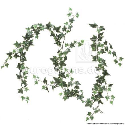 künstliche Efeugirlande grün/weiß ca. 190cm lang