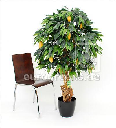 künstlicher Mangobaum 120cm mit 9 Früchten 2. Wahl