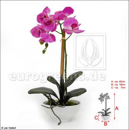 künstliche lila Orchidee in Keramikschale ca. 45cm