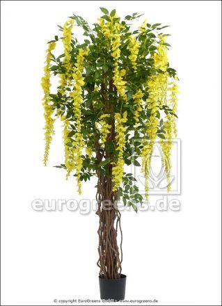 künstliche Wisteria Liane gelb ca. 180cm