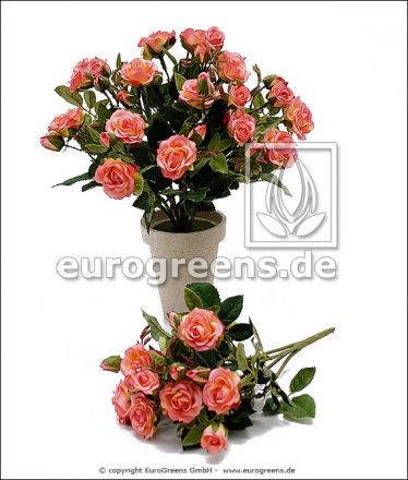 künstlicher Diamanten Rosen-Busch ca. 25cm rosa