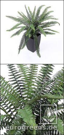 künstlicher Farnbusch ca. 50cm Durchmesser  (mit Einsteckstab/ ungetopft)