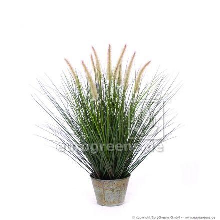 künstlicher Pennisetum Gras Busch ca. 57cm mit Ziertopf