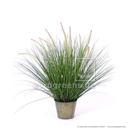 künstlicher Pennisetum Gras Busch ca. 85cm mit Ziertopf