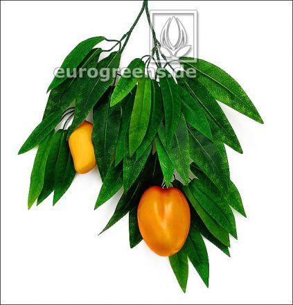künstlicher Royal-Mango Zweig mit 2 Mangos
