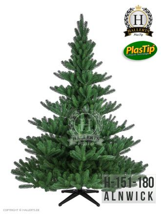 künstlicher Spritzguss Weihnachtsbaum PREMIUM Nordmanntanne Alnwick ca. 180cm