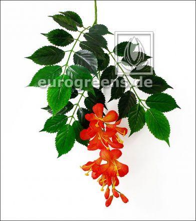 Künstlicher Campsis radicans Zweig mit Blüten