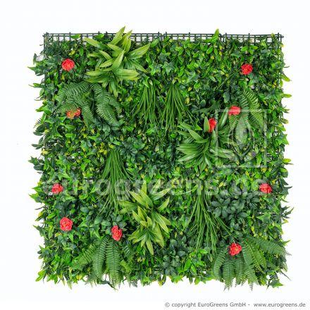künstliches Blumen-Pflanzwand Paneel 100x100cm beliebig vergrößerbar