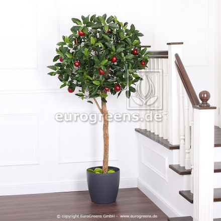 Kunstpflanze Apfelbaum DLX 180cm mit Äpfeln