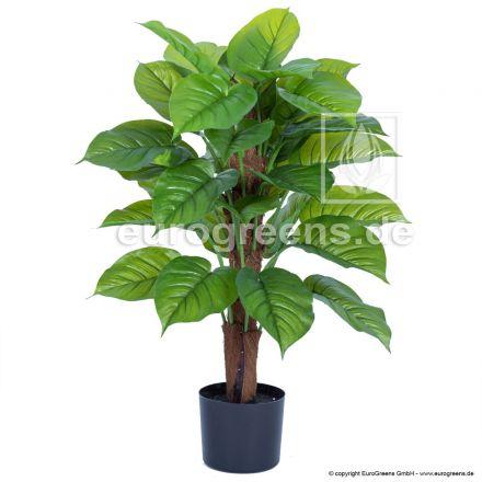 Kunstpflanze Philodendron Smaragd ca. 85cm am Sisalstamm