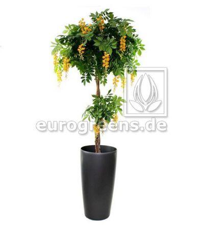 Kunstpflanze Wisteria 180cm DLX gelb blühend