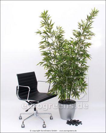 Kunstpflanze Madagaskar Bambus Stab Set 3 Stämme