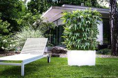 Kunsthecke mit Naturstamm Bambus ca. 140-150cm