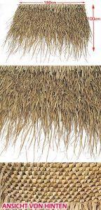 Palmendach-Paneel ca. 120x90-100cm geflochten
