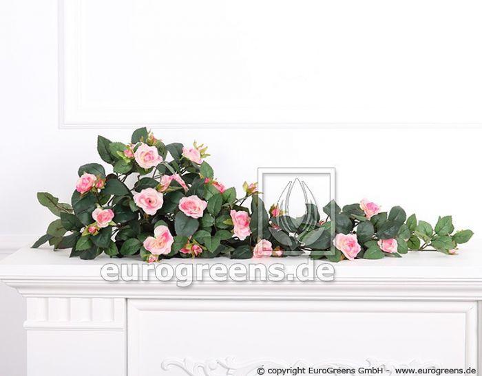 Kunstpflanze Rosenranke rosa/pink ca.70cm (mit Einsteckstab/ ungetopft)