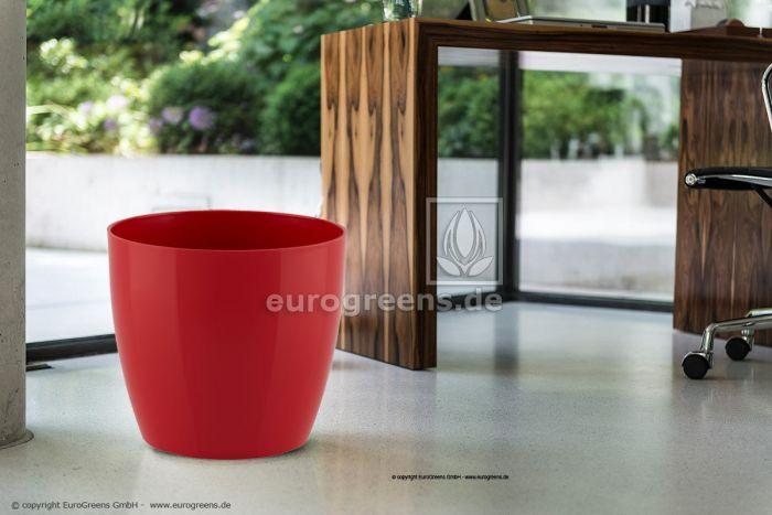 Übertopf San Remo rot glänzend 36cm DM