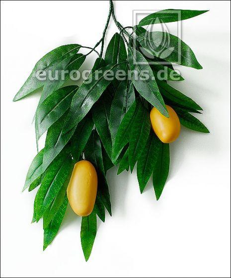 künstlicher Thai-Mango Zweig mit 2 Mangos