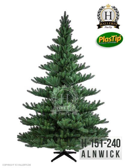 künstlicher Spritzguss Weihnachtsbaum PREMIUM Nordmanntanne Alnwick 240cm