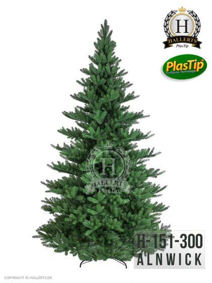 künstlicher Spritzguss Weihnachtsbaum PREMIUM Nordmanntanne Alnwick ca. 300cm