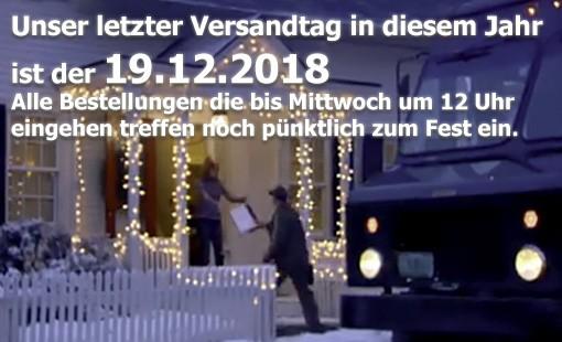Letzter Versandtag 2018