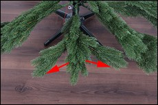 Spritzguss Weihnachtsbaum Astley 180cm